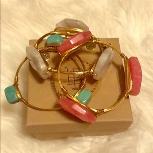 NWOT Bourbon and Bowties Set of Three Bracelets